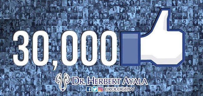 UrologoSV, 30000 seguidores en Facebook!