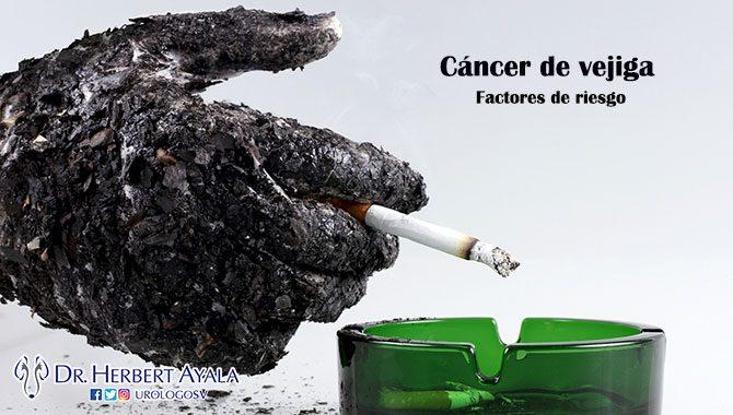 Factores de riesgo de cáncer de vejiga